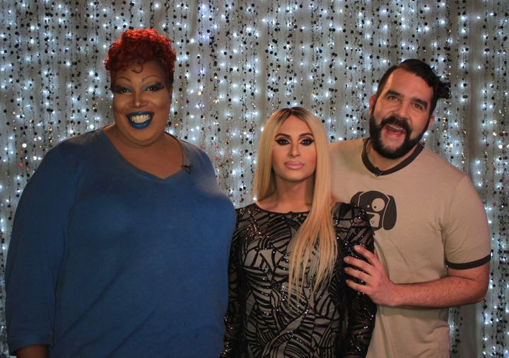 Lady Red Couture, Naysha Lopez and Jonny McGovern on Hey Qween