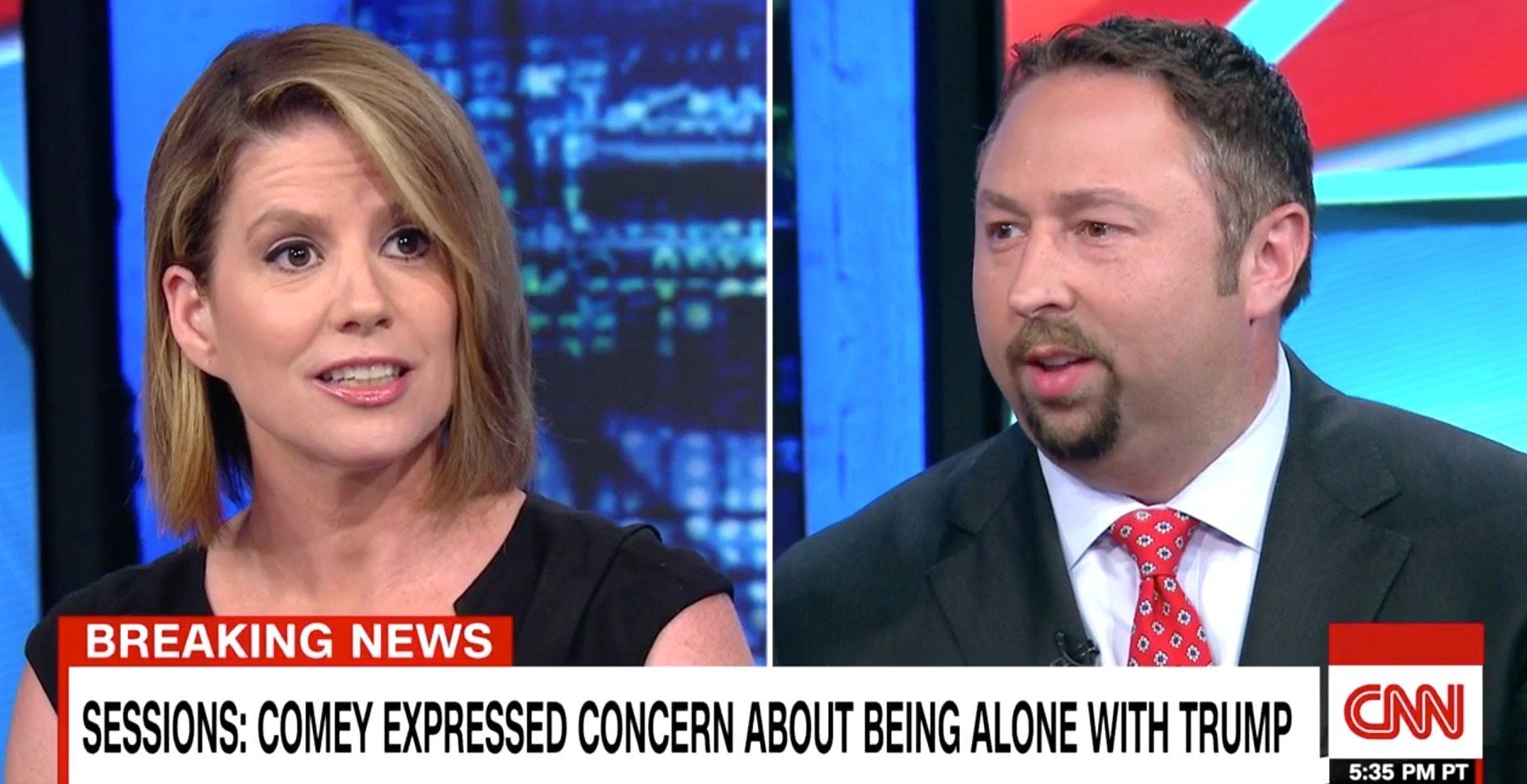 Kirsten Powers and Jason Miller