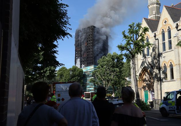 Fire services said there were a 'number of fatalities' in the blaze at Grenfell