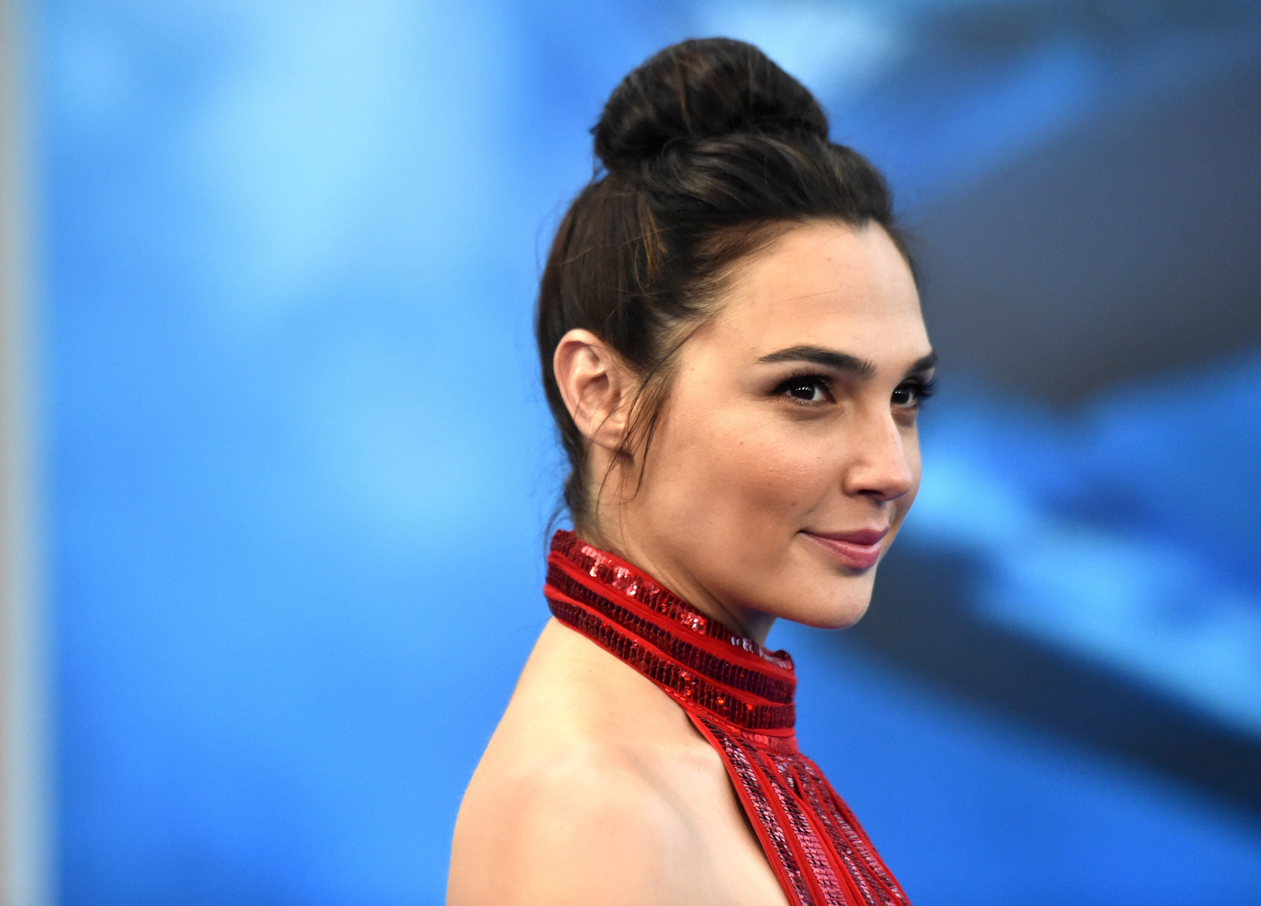 Actress Gal Gadot arrives at the Premiere Of Warner Bros. Pictures' 'Wonder Woman' at the Pantages Theatre...