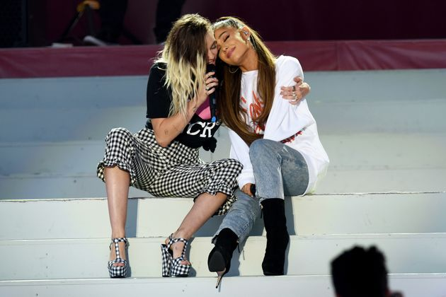 Miley Cyrus and Ariana Grande's duet was a highlight of the