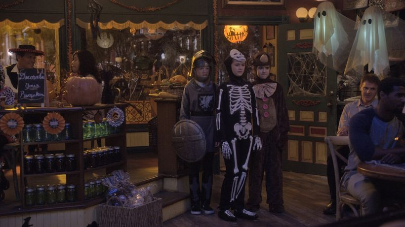 Still showing Gary Kordan's production design in 'Just Add Magic' Halloween special