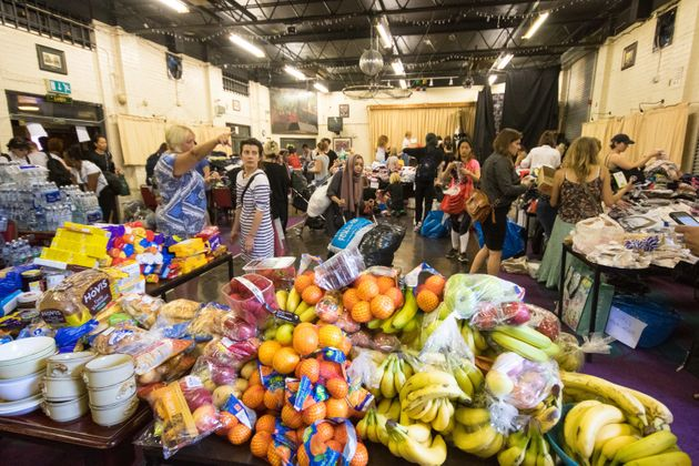 Mountains of food accumulates as the kindness of Londoners is demonstrated at the Maxilla Social