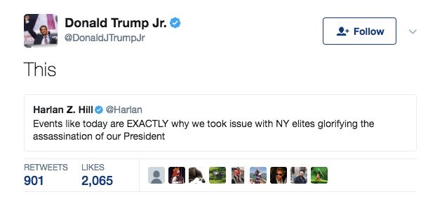 Donald Trump Jr. Tweets About 'Julius Caesar' After Top Lawmaker and Others