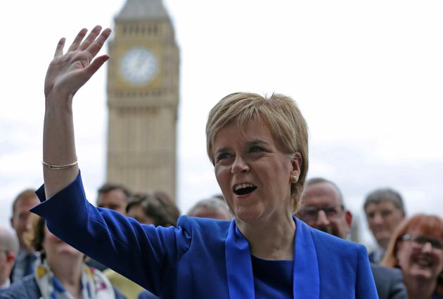 First Minister of Scotland Nicola Sturgeon welcomes her new MPs to
