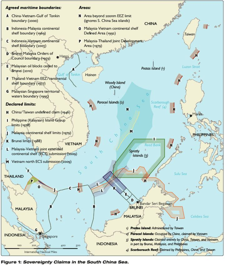 The Chinese Nine-Dash Line and the scramble for the South China Sea.