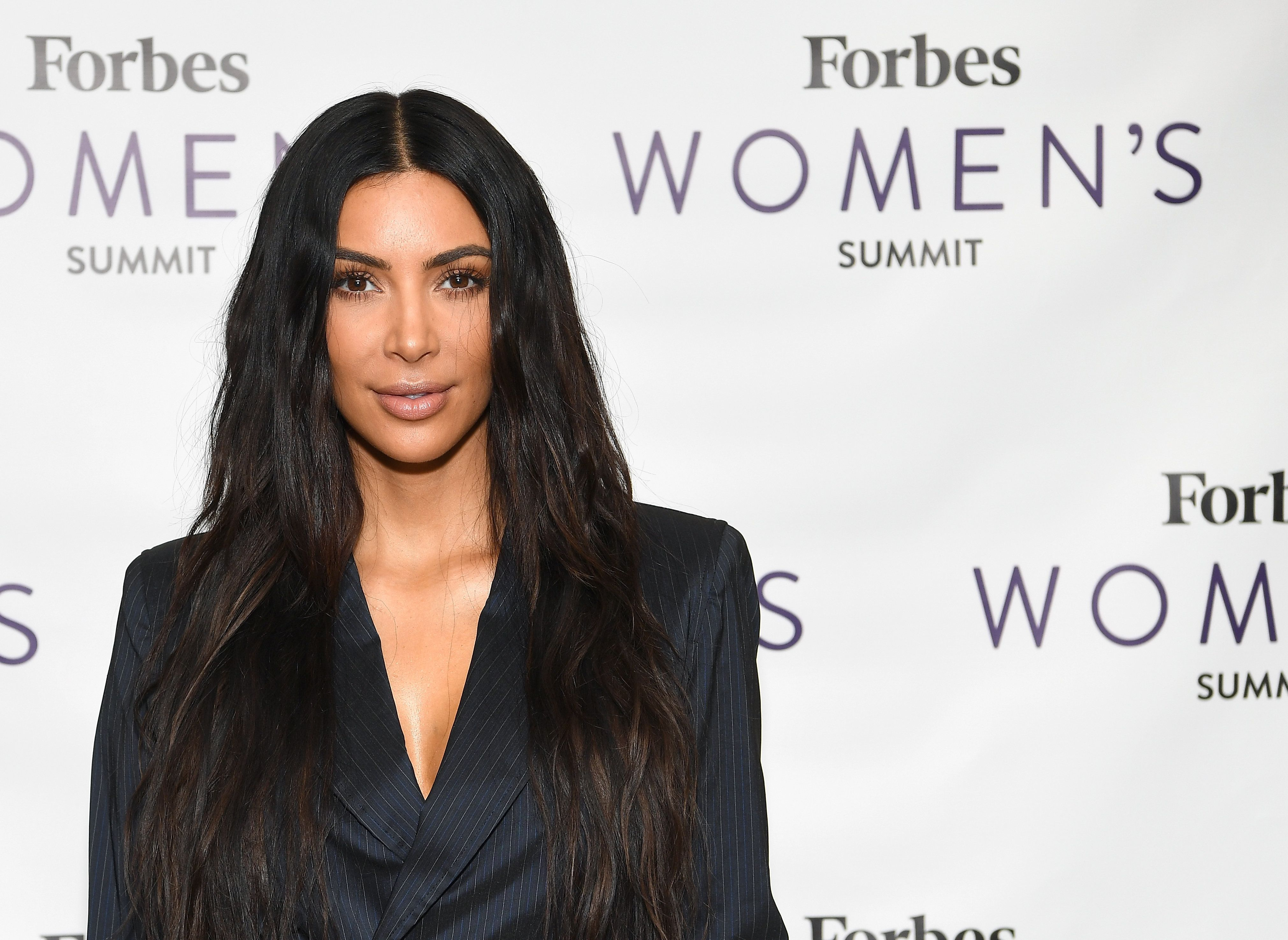 Kim Kardashian attends the 2017 Forbes Women's Summit at Spring Studios on June 13.