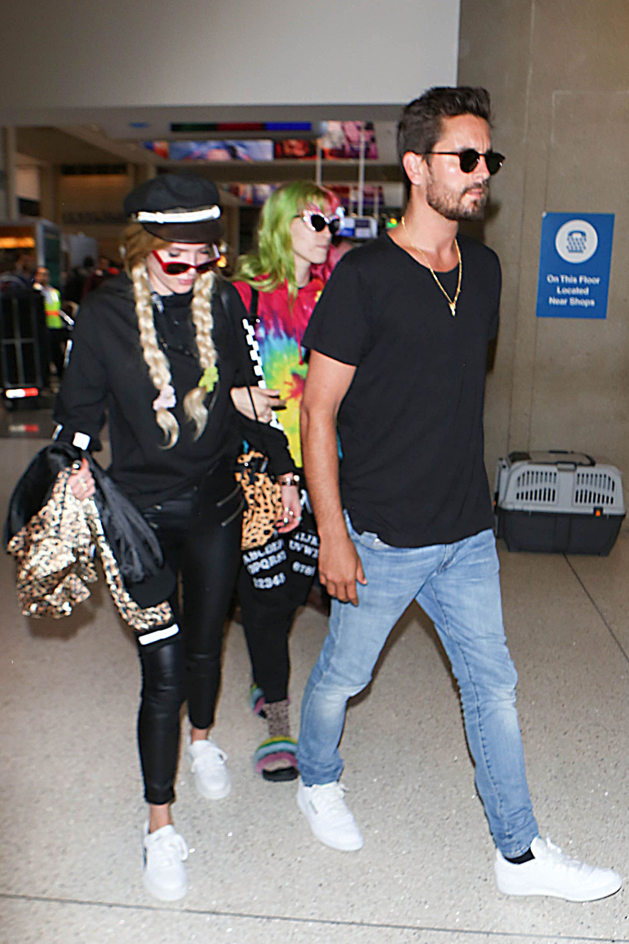 Scott Disick and Bella Thorne at LAX.