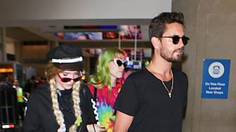 LOS ANGELES, CA - MAY 22: Scott Disick and Bella Thorne are seen at LAX on May 22, 2017 in Los Angeles, California.  (Photo by starzfly/Bauer-Griffin/GC Images)