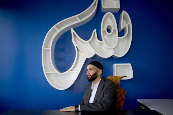 Imam Omar Suleiman, photographed in his office in Las Colinas, Texas. Suleiman is president of the Yaqeen Institute for Islam