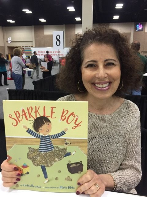 Lesléa Newman with her new book <em>Sparkle Boy</em>