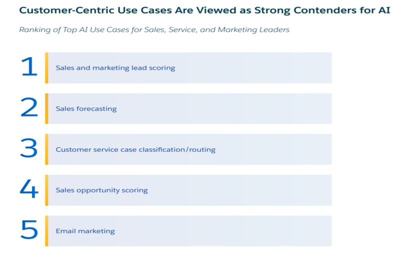 Customer-centric use cases are strong contenders of AI