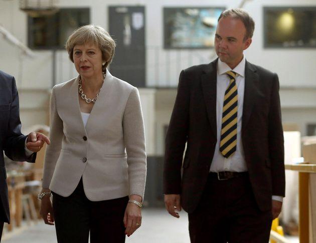 Theresa May and former housing minister Gavin