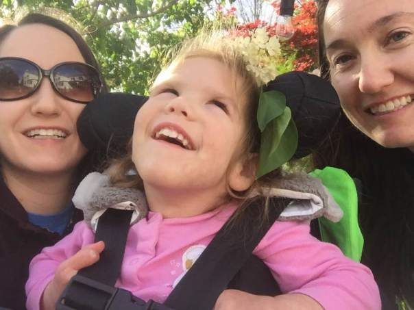 <p><em>Lucia on the porch with her mom and aunt.</em></p>
