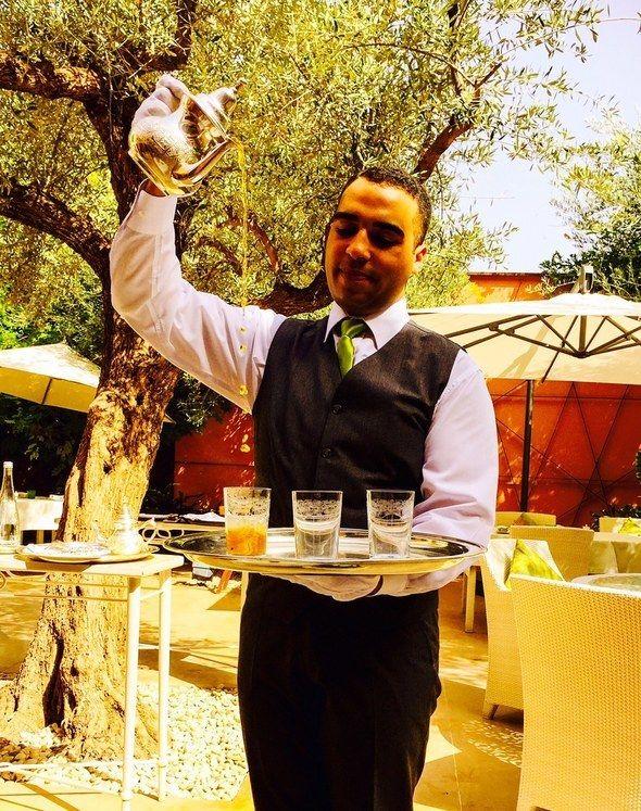 Special Moroccan tea presentation.