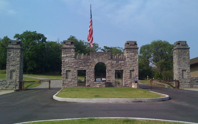 Fort Negley Park entrance.