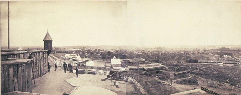 Image taken in 1864 from the upper level of Fort Negley.