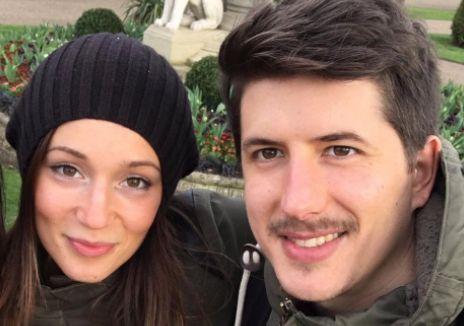 Marco Gottardi and his girlfriend Gloria