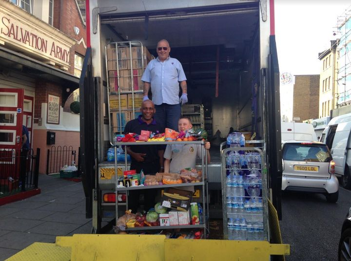 Marks and Spencer sent provisions to help those affected, as well as a refrigerated lorry