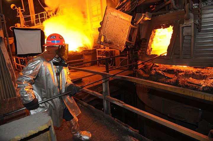 USW member working at EVRAZ North America