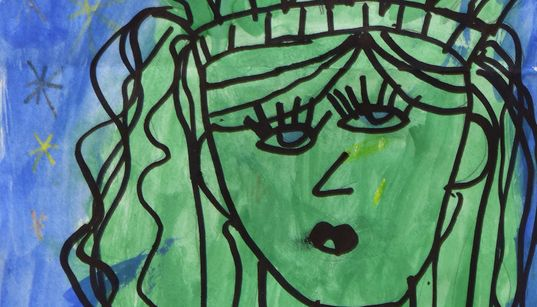 A First-Grader's Picasso-Like Painting Is Now Hanging At The