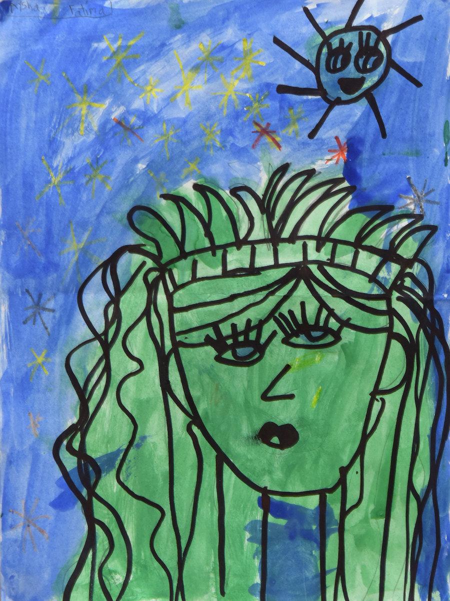 "Aysha Fatima, ""Lady Liberty,"" Grade 1, P.S. 119 Amersfort, Brooklyn"