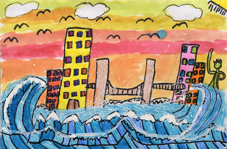 "Jessica Dukes, ""Coming To Nyc On The Great Wave,"" Grade 2, P.S. 160 Walt Disney, Bronx"