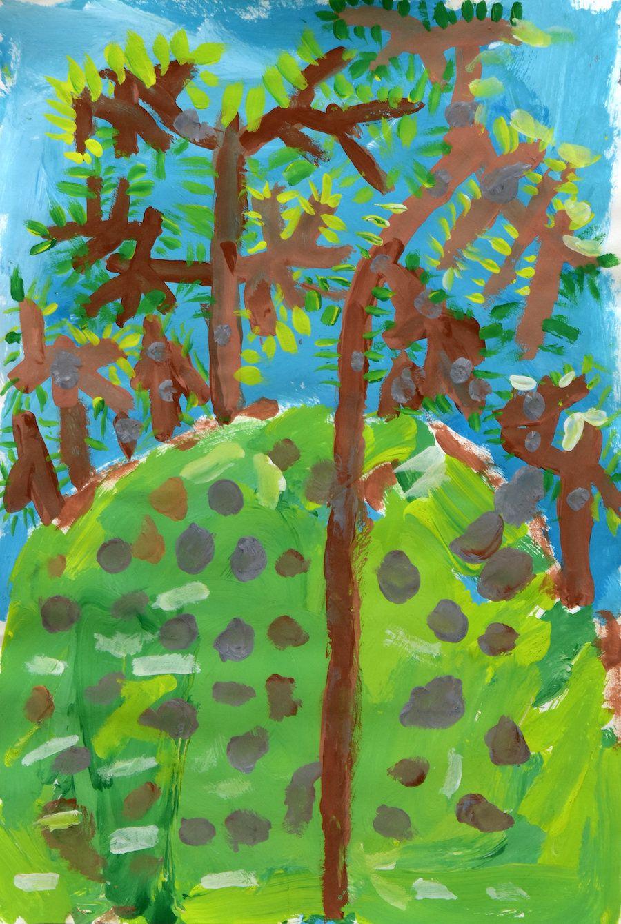"Zara Abbasova, ""Little Trees,"" Grade K, P.S. 048 William G. Wilcox, Staten Island"