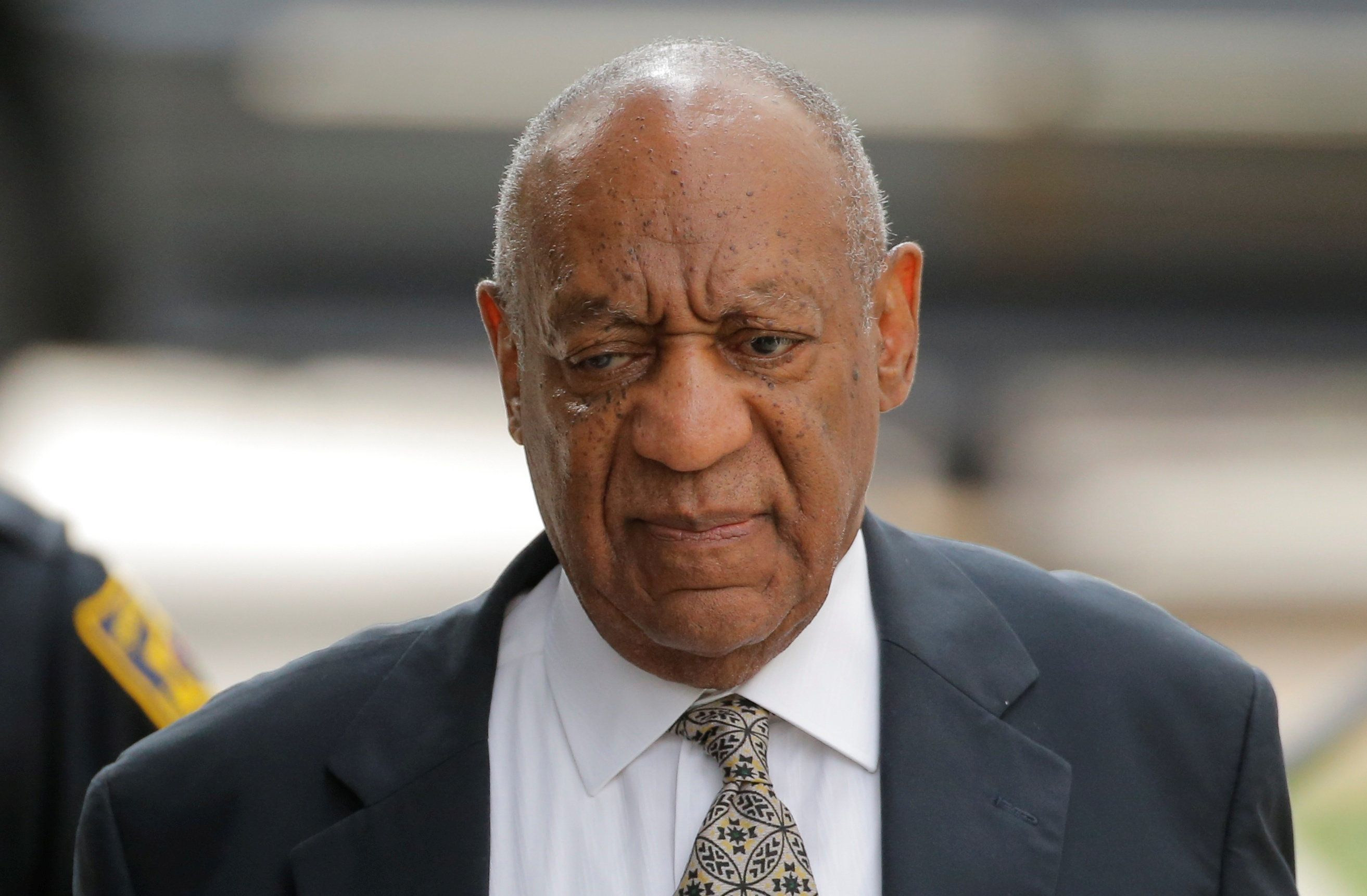 Actor and comedian Bill Cosby arrives for the fourth day of jury deliberation in his sexual assault trial at the Montgomery C