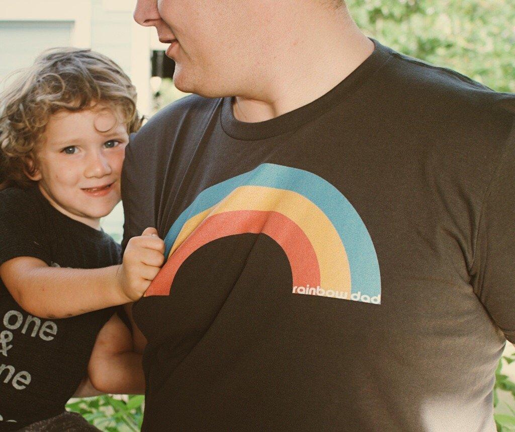 """BrynHuntpalmer designed a shirt for """"rainbow dads."""""""