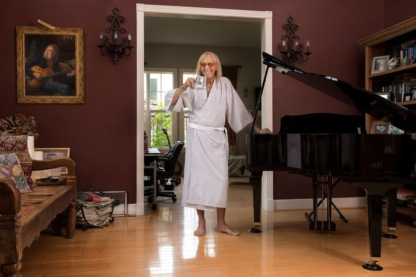 <em>Davey Johnstone, musician and famed Musical Director of Elton John's band photographed in his Calabasas, Ca home. </em>