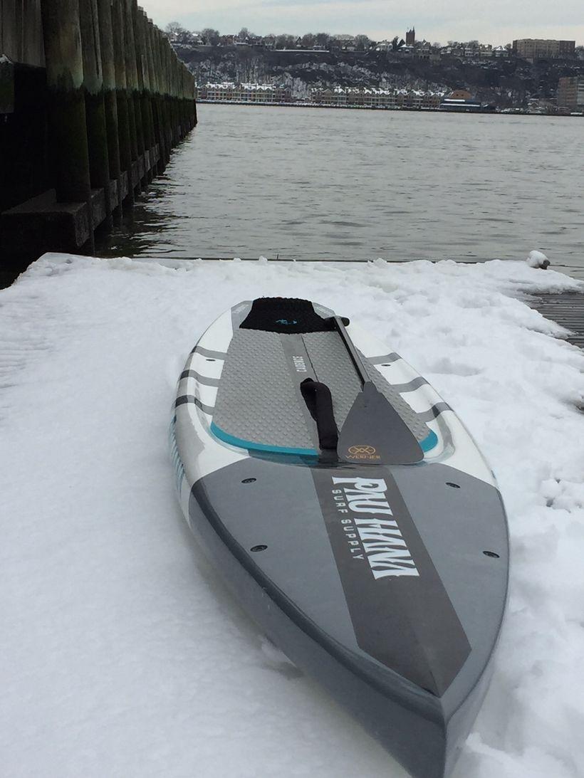 SUP & Snow! Pier 84 dock