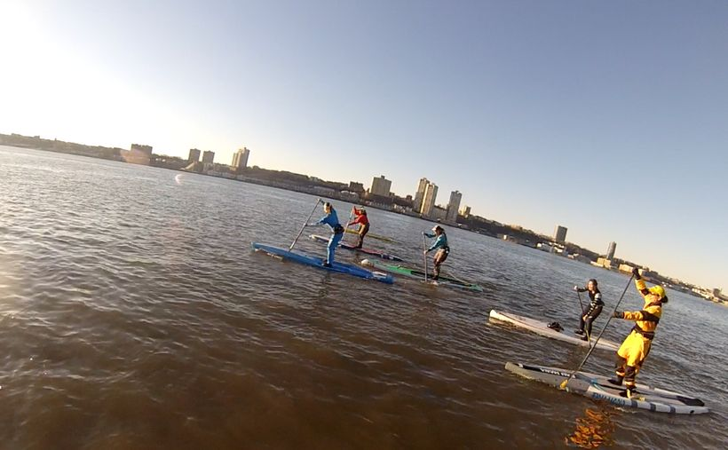 New Year's Day SUP Paddle, Hudson River, NYC
