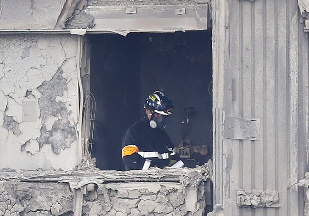 Fire officers in Grenfell