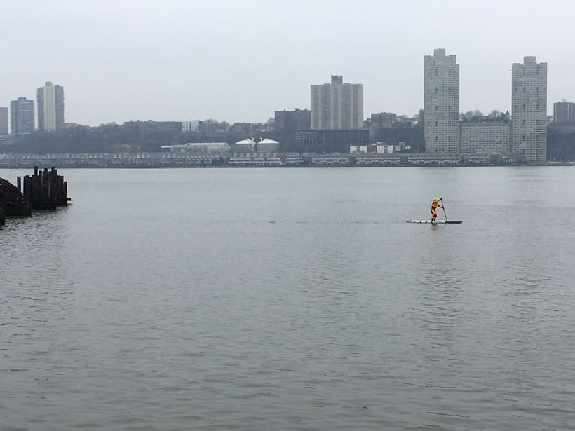 Stefani (author) SUP on Hudson River, NYC
