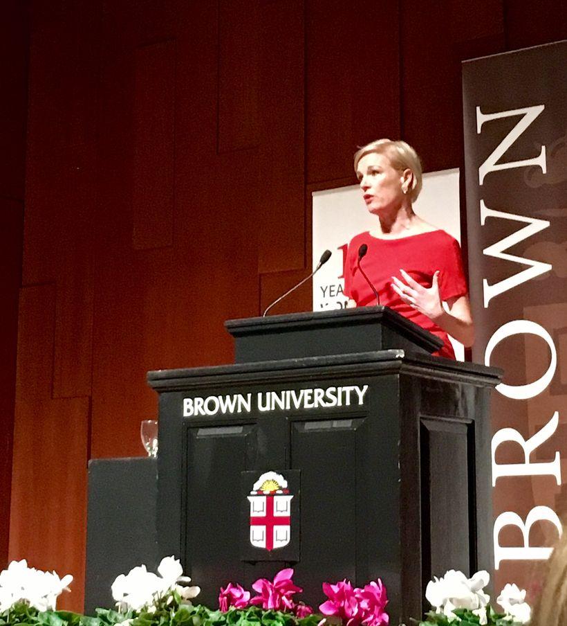 <em>Cecile Richards, President of Planned Parenthood, speaks to alumnae at Brown University</em>