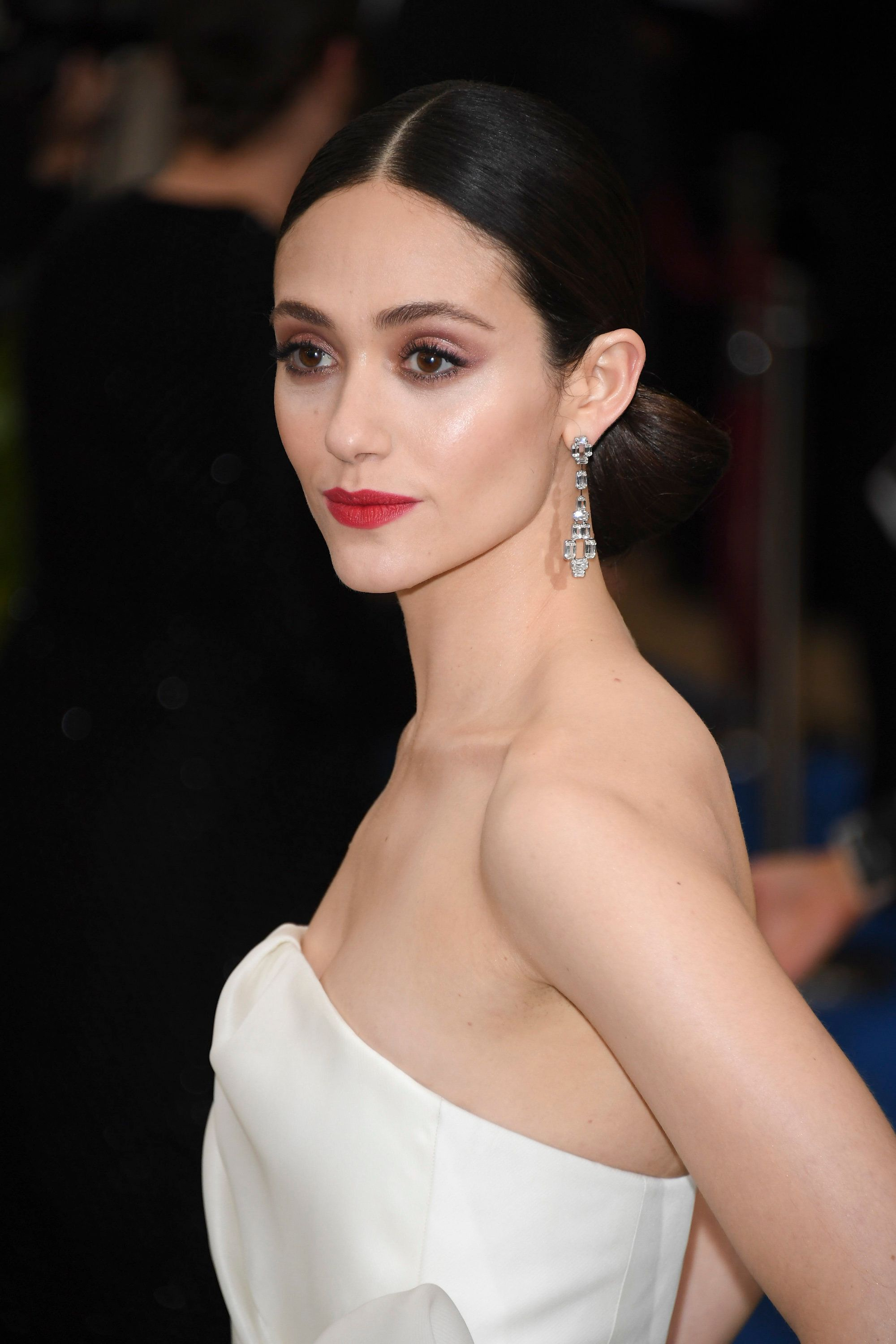 NEW YORK, NY - MAY 01:  Emmy Rossum attends 'Rei Kawakubo/Comme des Garcons: Art Of The In-Between' Costume Institute Gala - Arrivals at Metropolitan Museum of Art on May 1, 2017 in New York City.  (Photo by Venturelli/WireImage)