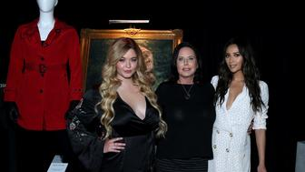 """BURBANK, CA - JUNE 14: (L-R) Sasha Pieterse, I. Marlene King and Shay Mitchell attend the Warner Bros. Studio Tour Hollywood Launches Special Exhibit Celebrating Final Season Of """"Pretty Little Liars"""" at Warner Bros. Studios on June 14, 2017 in Burbank, California.  (Photo by Jonathan Leibson/Getty Images for Warner Bros. Studio Tour Hollywood)"""