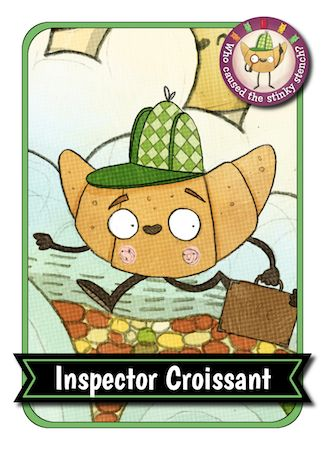 Inspector Croissant collector's card
