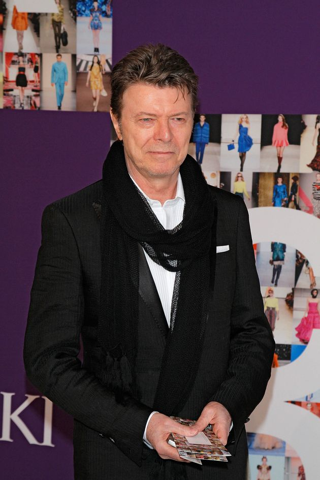 David Bowie pictured in
