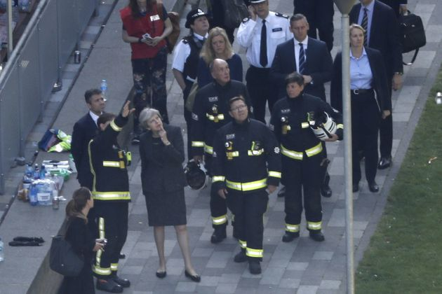 UK royals hold London fire minute of silence