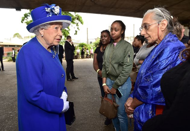 The Queen was applauded by Grenfell residents when she left the