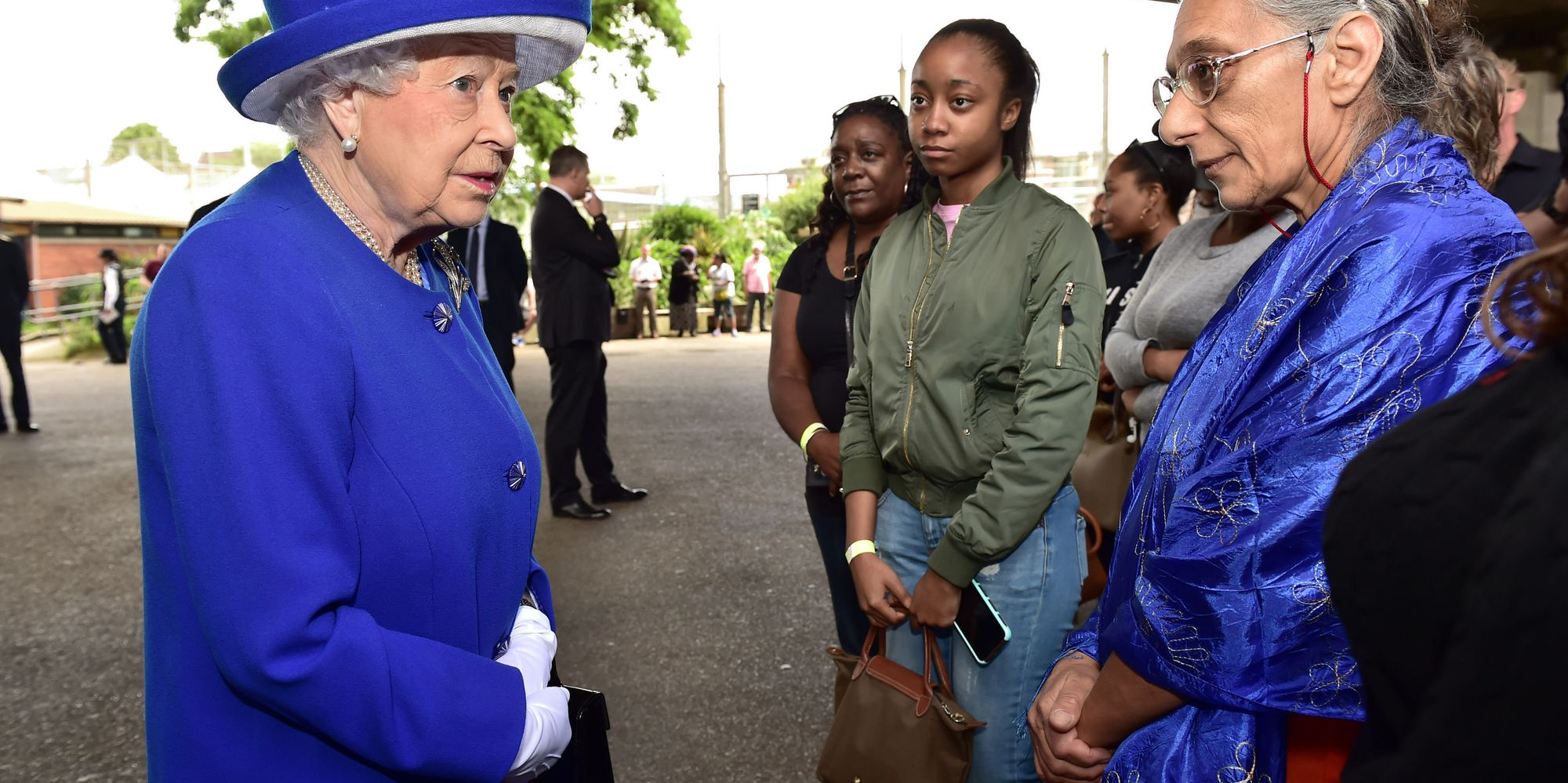 Technology Management Image: The Queen Shows Up Theresa May After Meeting Grenfell