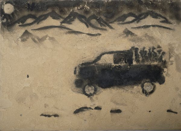 This piece is based on a horrific incident which occurred as a young refugee traveled through the Libyan desert on the back o