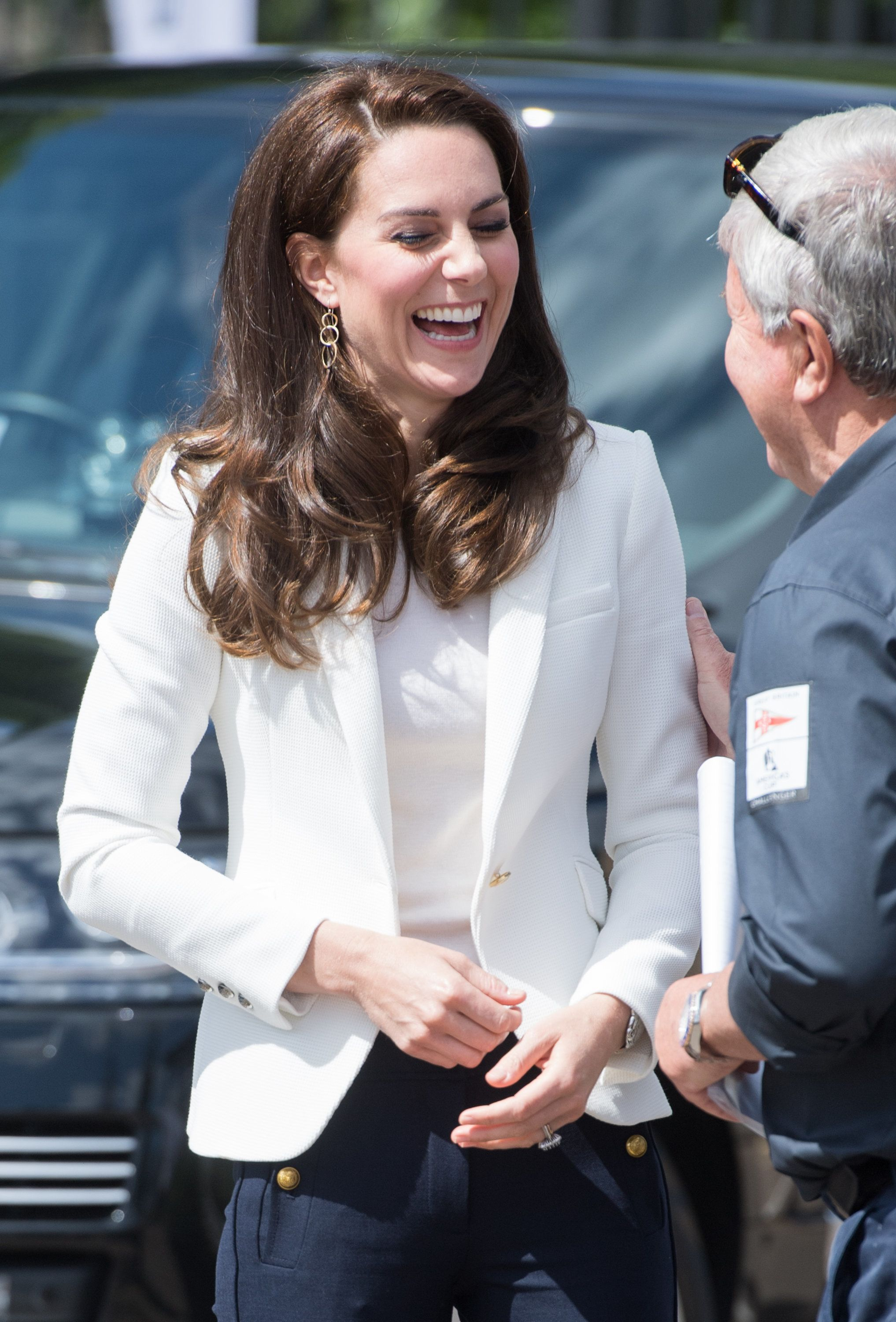 LONDON, ENGLAND - JUNE 16:  Catherine, Duchess of Cambridge visits the 1851 Trust roadshow at Docklands Sailing and Watersports Centre on June 16, 2017 in London, England.  The Duchess of Cambridge is patron of the 1851 Trust.  (Photo by Samir Hussein/Samir Hussein/WireImage)
