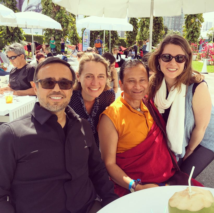 With Ammar Charini, Founder of Purposehood, Maureen Healy, Founder and author of Growing Happy Kids, and Dr. Saamdu Chetri, D