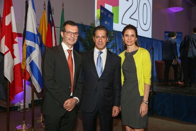 Two of the main organizers of WOHASU, Karen Guggenheim and Manuel Pietra, with Miami-Dade Public School Superintendent Albert