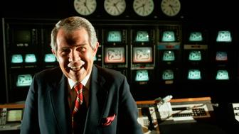 (Original Caption) Television evangelist and conservative political activist Pat Robertson poses in the control room for his 700 Club TV show. (Photo by © Wally McNamee/CORBIS/Corbis via Getty Images)