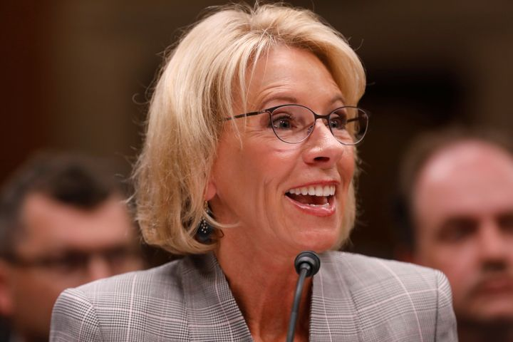 U.S. Education Secretary Betsy DeVos testifies in Washington, D.C., on June 6, 2017.