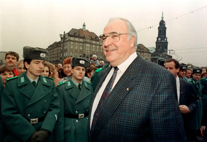Kohl visits Dresden, Germany in 1989.